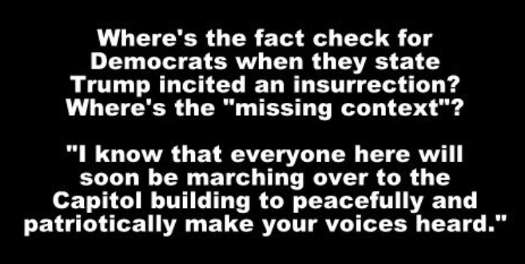 fact check wheres missing context quote from trump peacefully heart capitol