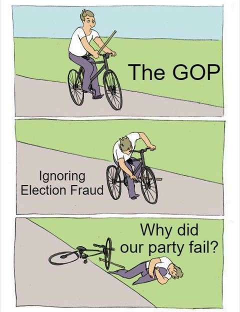 gop bike ignoring election fraud why did our party fail