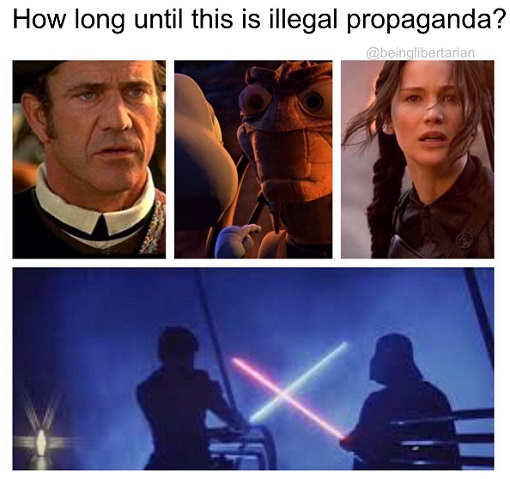 how long until this is illegal propaganda patriot hunger games star wars empire