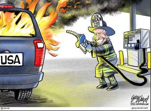 joe biden fire department gasoline pump
