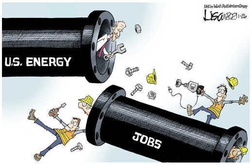 joe biden pipeline us jobs destroyed
