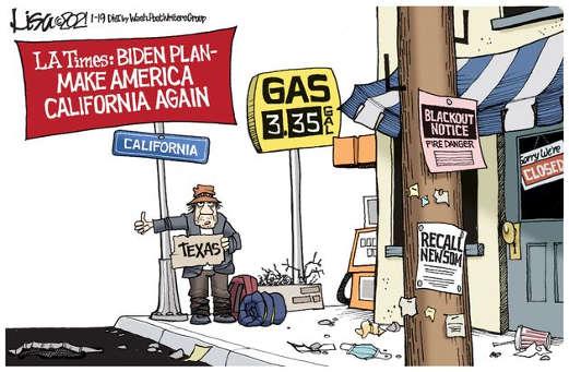 joe biden plan make america california blackout socialism high gas