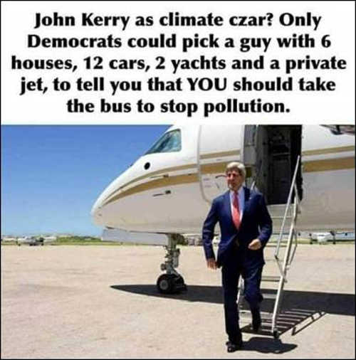 john kerry climate czar houses cars yachts private jet