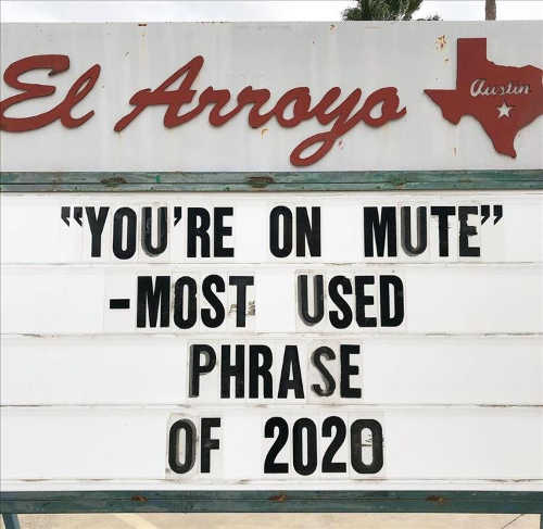quote youre on mute most used phrase of 2020