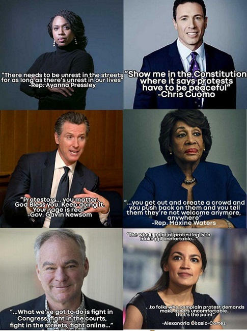 quotes pressley cuomo newsom waters aoc protesters