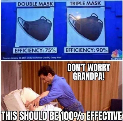 seinfeld double triple mask efficiency pillow dont worry grandpa