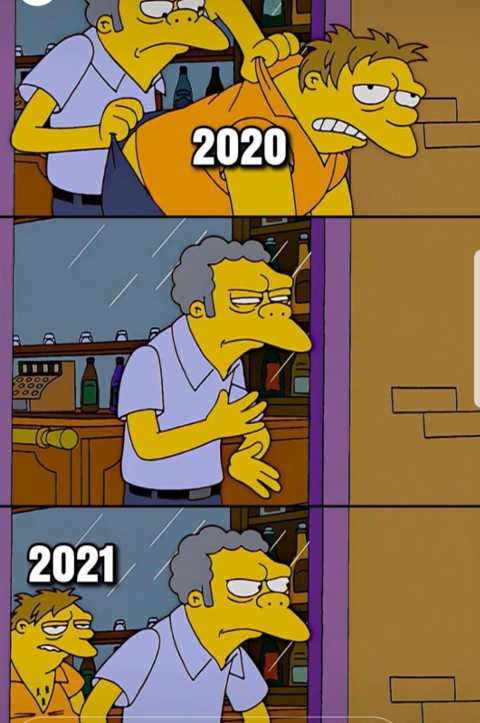 simpsons 2020 throwing out bar 2021 back