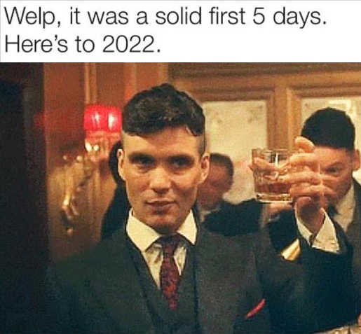 solid first 5 days of 2021 heres to 2022