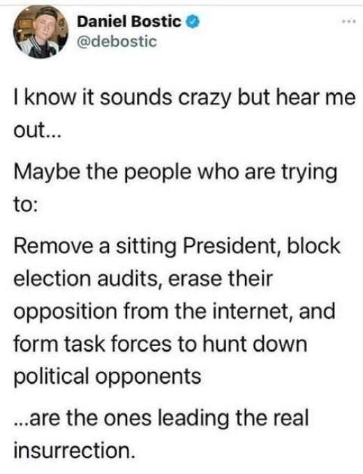 tweet danielf bostic remove president leading real insurrection
