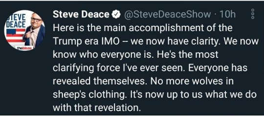 tweet steve deace main accomplishment trump know who everyone is