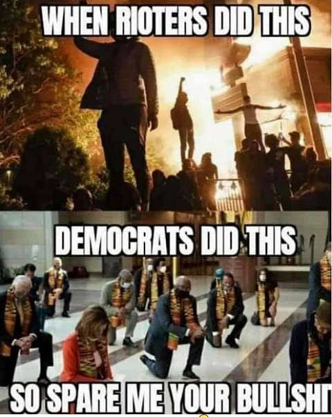 when rioters burned cities democrats did this so spare me your bullshit