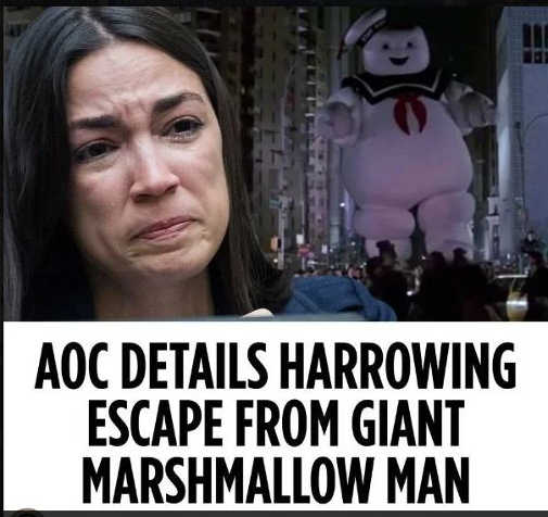 aoc harrowing escape from marshmallow man