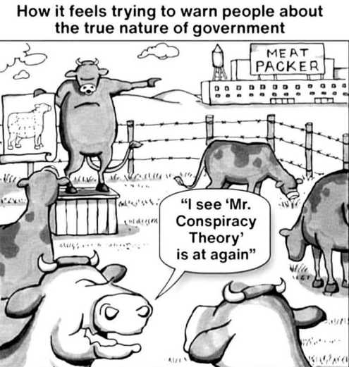 cow meat packer sign i see mr conspiracy theory at it again government