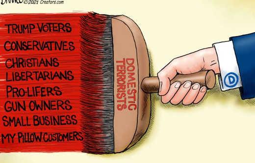 democrat domestic terrorists trump voters libertarians conservatives gun owners small business