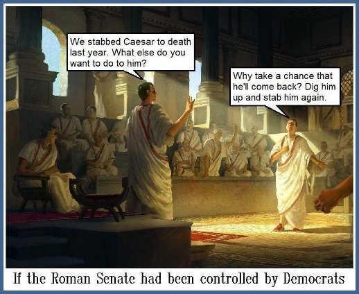 democrats roman senate stab caesar again