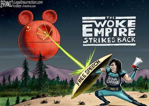 disney woke empire strikes back free speech gina carano