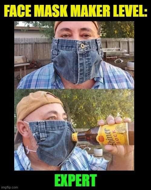 face mask level expert jeans bear zipper