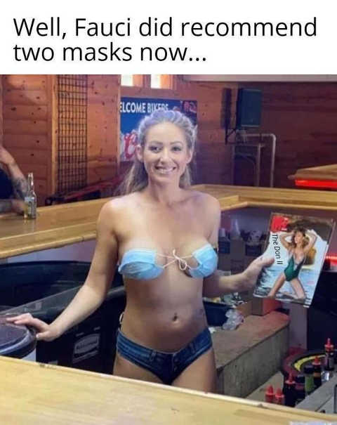 fauci did recommend two masks bra