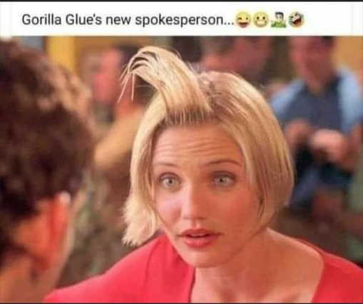 gorilla glues new spokesperson something about mary hair