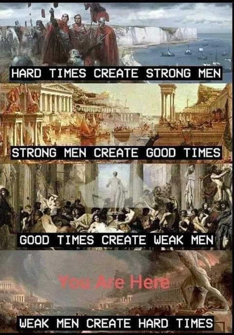 history hard times strong men weak men hard times