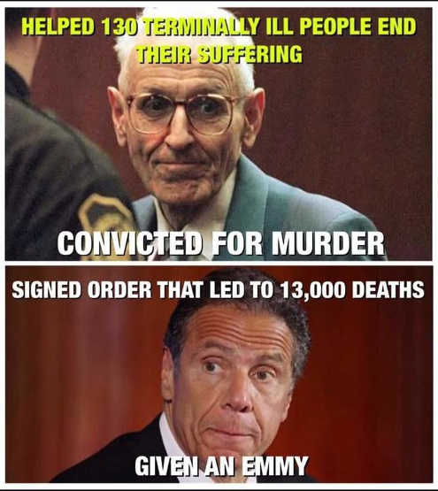 jack kevorkian convicted murder andrew cuomo given emmy