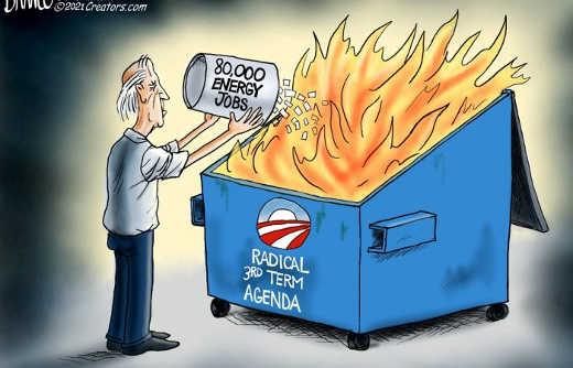 joe biden dumping 80000 energy jobs radical 3rd obama term