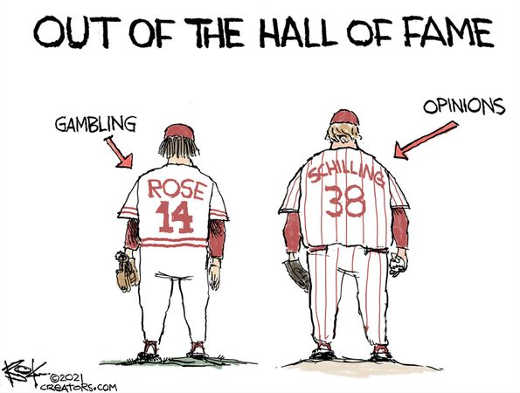 out of hall of fame pete rose gambling curt schilling having opinions