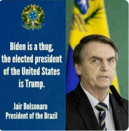 quote jair bolsonaro brazil biden is thug elected president is trump