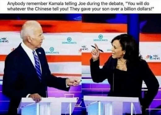 quote kamala harris biden will do anything for china took billion