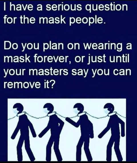 serious question wear mask forever or just until masters say you can remove chain collar
