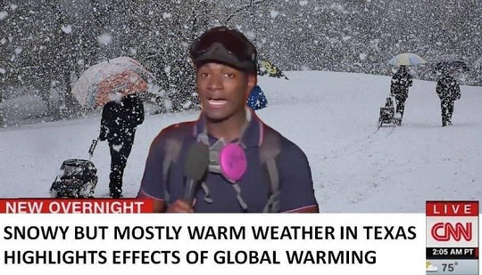 snowy but mostly warm weather texas highlights effects global warming