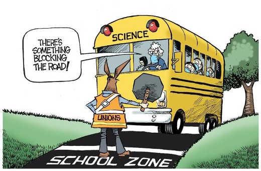 teachers unions democrats blocking schools science