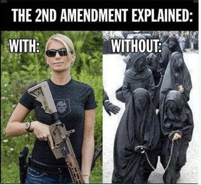 2nd amenment explained women america muslim burkas