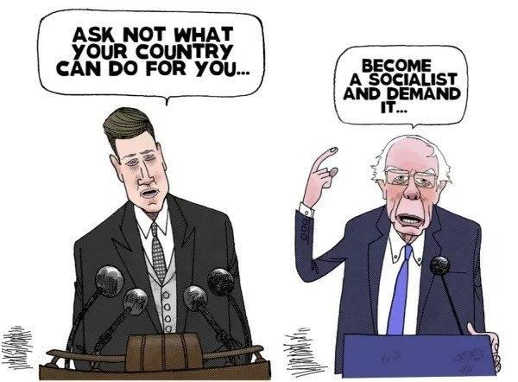 ask not what country can do for you bernie sanders become socialist demand it