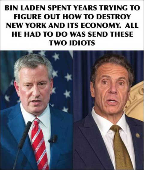 bin laden set out destroy new york just needed to send cuomo blasio