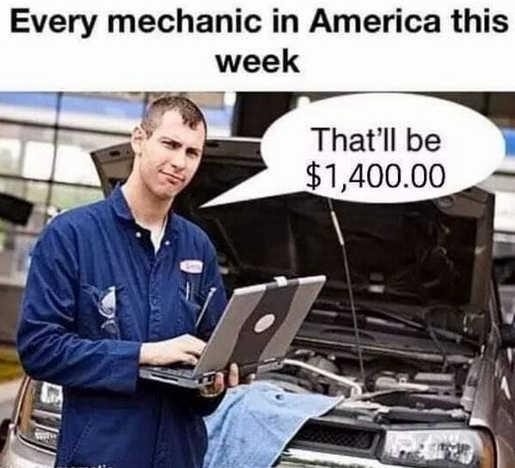 every mechanic this week 1400 stimulus