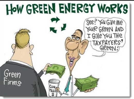 how green energy works firms politicians taxpayer money
