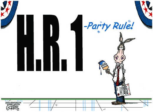hr 1 party rule democrat election fixing
