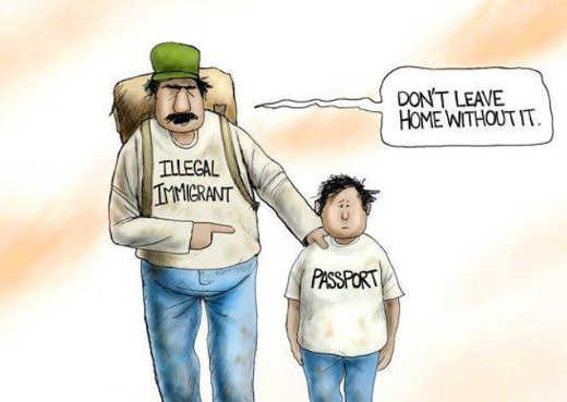 illegal immigrant kid passport dont leave home without it