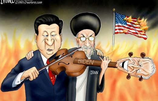 iran china play joe biden like a fiddle