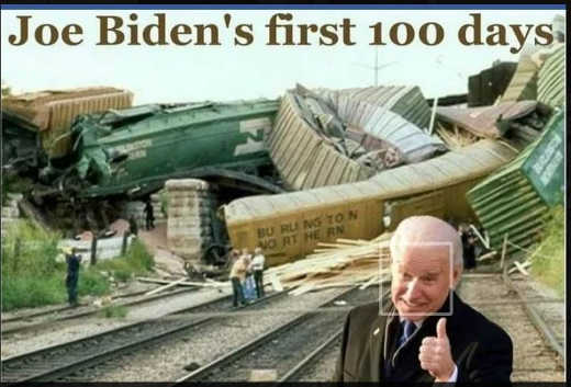 job biden first 100 days office trainwreck