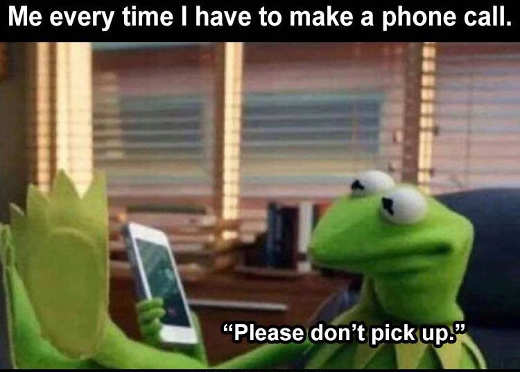 kermit every time make phone call please dont pick up