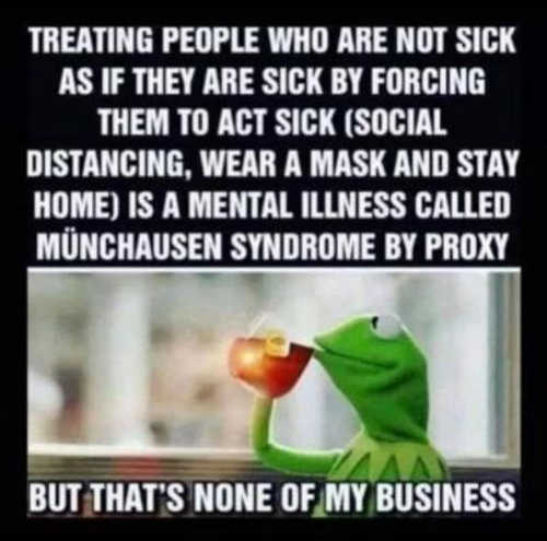 kermit making healthy people act sick masks munchausen syndrome none of my business tea