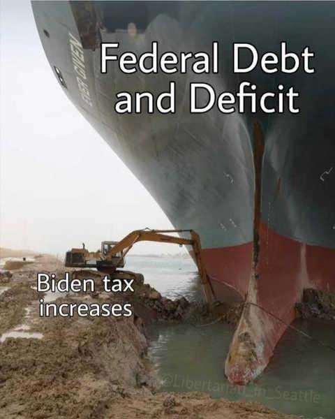 massive ship federal debt deficit biden tax increases