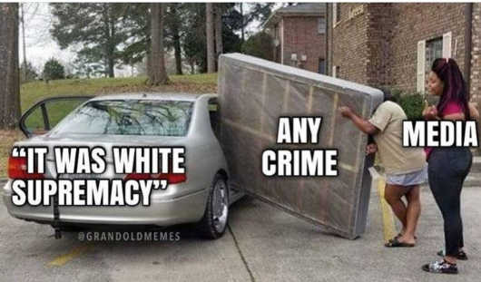 media car fitting any crime white supremacy