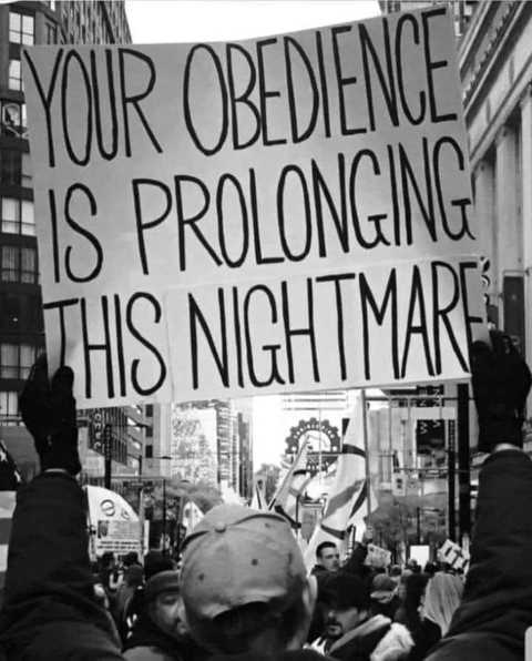 message your obedience is prolonging this nightmare