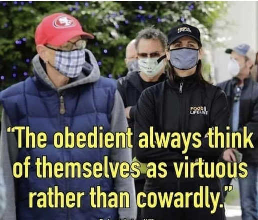 quote obedient always think themselves virtuous rather than cowardly facemasks