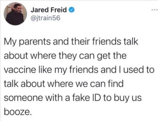 tweet jared freid parents vaccine like fake id