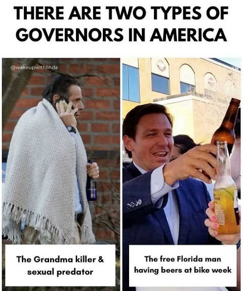 two types of governors cuomo desantis free florida sexual predator