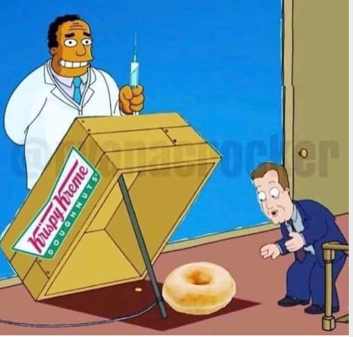 vaccine donut box trap simpsons